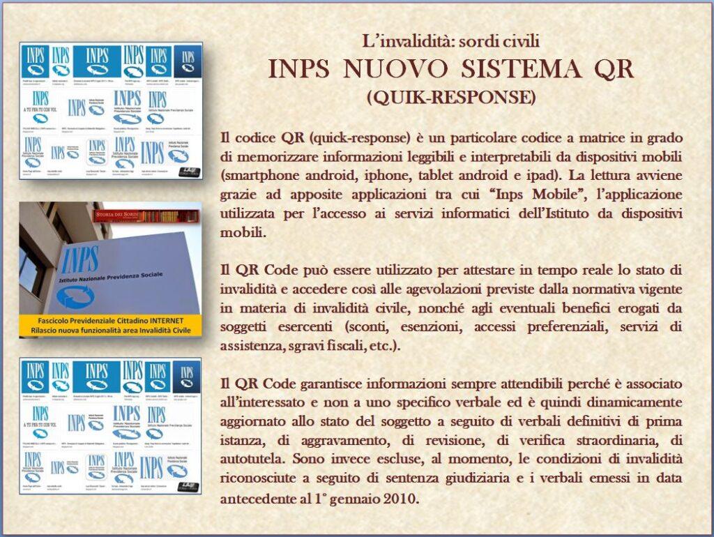 INPS sistema codice QR quick response