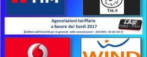 Wind. Agevolazioni tariffarie a favore dei Sordi (Agcom 2017)