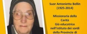 Suor Antonietta Bellin. Missionaria della Carità e già educatrice dei sordi