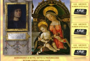 Bernardino di Betto detto il Pinturicchio Mostra del grande artista Sordo (Newsletter della Storia dei Sordi n. 417  del  2 febbraio 2008)