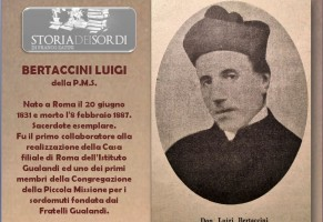 Don Luigi Bertaccini. Educatore dei sordi.