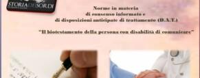 Il biotestamento e i Sordi Italiani