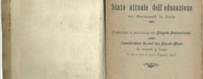 Brevi cenni sullo stato attuale dell'educazione dei sordomuti in Italia nel 1905