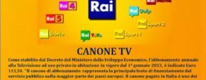 Sottotitoli pag. 777 e Canone TV