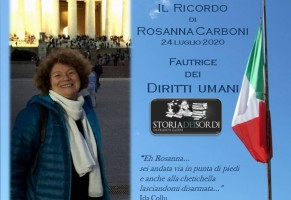 La dipartita di Rosanna Carboni Zanecchia. Fautrice dei Diritti Umani