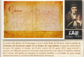 Pontefice Celestino V nella storia dei sordi