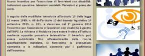 Lavoro delle Persone con la disabilità (Legge 68/99). L'incentivazione dello Stato