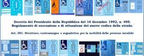 Contrassegni invalidi in banca dati