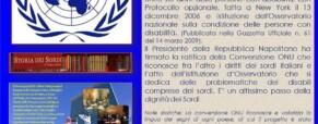 Storico comunicato n. 29 del  28 novembre 2008 sulla convenzione ONU (Newsletter della Storia dei Sordi n. 599 del 3 dicembre 2008)