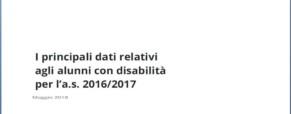 Alunni disabili 2016-2017, pubblicato il Focus del Miur