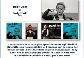 Cinema Deaf Jam 14 dicembre