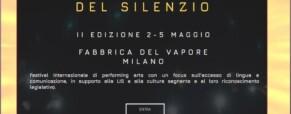 Festival del Silenzio 2019. Riconoscimento Lis