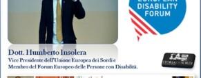 Humberto Insolera eletto nell'European Disability Forum