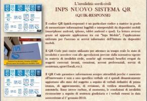 INPS. I sordi civili nei servizi online. Il nuovo sistema QR Code per i verbali