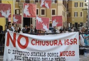 ISSR. La manifestazione a Montecitorio