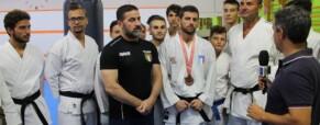 Olimpionico Giovanni Improta intervistato dai giornalisti di Rai Tre