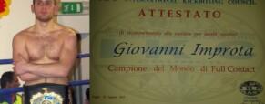Giovanni Improta. Merito Sport internazionale