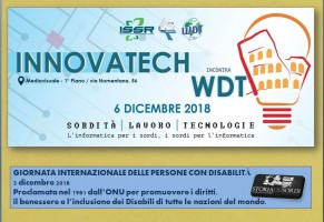 Innovatech 2018. World Deaf Tech. 6 Dicembre