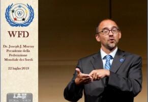 Giuseppe Murray. Nuovo Presidente Federazione Mondiale dei Sordi