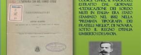 Codice Civile, vecchio articolo 340, e il sordo dell'ottocento: Arturo Maestri.
