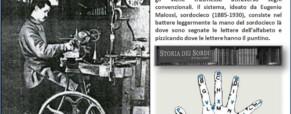 Eugenio Malossi, sordocieco. Ideatore dell'alfabeto tattile