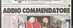 Grave lutto dello storico ENS Manlio Marcioni (Newsletter della Storia dei Sordi n. 697 del 3 giugno 2009)