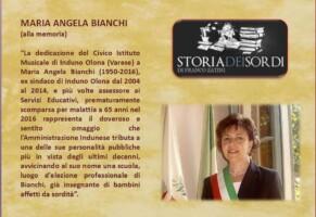 La casa della musica é intitolata a Maria Angela Bianchi