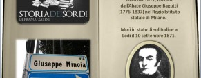 Minoja Giuseppe. Educatore Sordo.