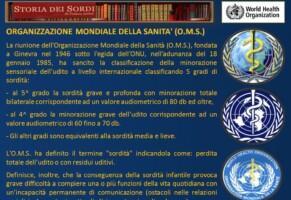 La sordità e l'organizzazione mondiale della Sanità (OMS)