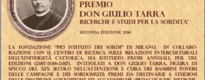 Premio Don Giulio Tarra: Ricerche e Studi per la Sordità. Edizione 2016 (Nuova scadenza 30 aprile)