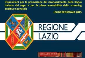 Regione Lazio: Approvata legge per lingua dei segni e accessibilità persone sorde.