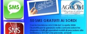 Servizi gratuiti SMS per i Sordi e i Ciechi