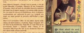 Memoria di Sant'Alberto Magno