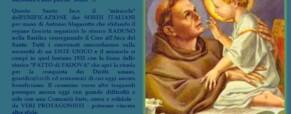 Il miracolo di Sant'Antonio sull'unità dei Sordi Italiani