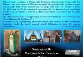 Il Santuario di Madonna della Rilevazione in Roma