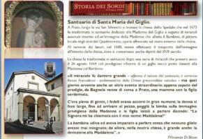 Il santuario della Madonna del Giglio di Prato e la storia dei sordi