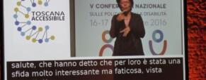 """Conferenza Regionale Toscana sull'accessibilità: """"Estendiamo e promuoviamo i diritti"""""""