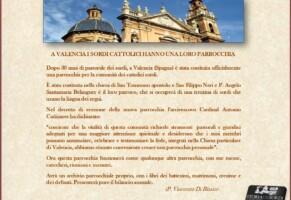 La Chiesa di Valencia e i sordi
