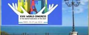 Congresso Internazionale della Federazione Mondiale dei Sordi Parigi 2019