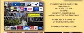 Manifestazione dei Sordi Italiani e Rai