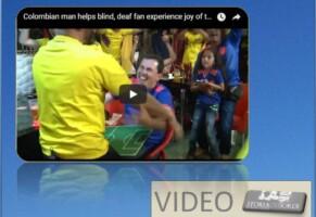 Spettatore sordo cieco in partita di calcio